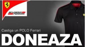 tricou polo Ferrari negru