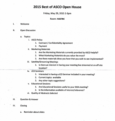 Program Best of ASCO Open House